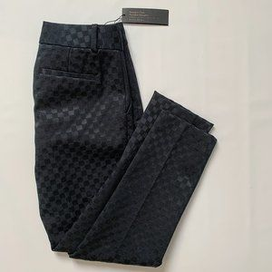 Banana Republic Hampton checkered black pants